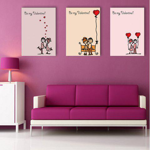 Yc Special Design Frameless Paintings Chinese Love Song of 3 - LIMEADE 16 X 11 INCH (40CM X 28CM)