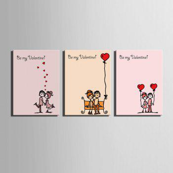 Yc Special Design Frameless Paintings Chinese Love Song of 3 - 16 X 11 INCH (40CM X 28CM) 16 X 11 INCH (40CM X 28CM)