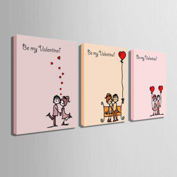 Yc Special Design Frameless Paintings Chinese Love Song of 3 - LIMEADE LIMEADE
