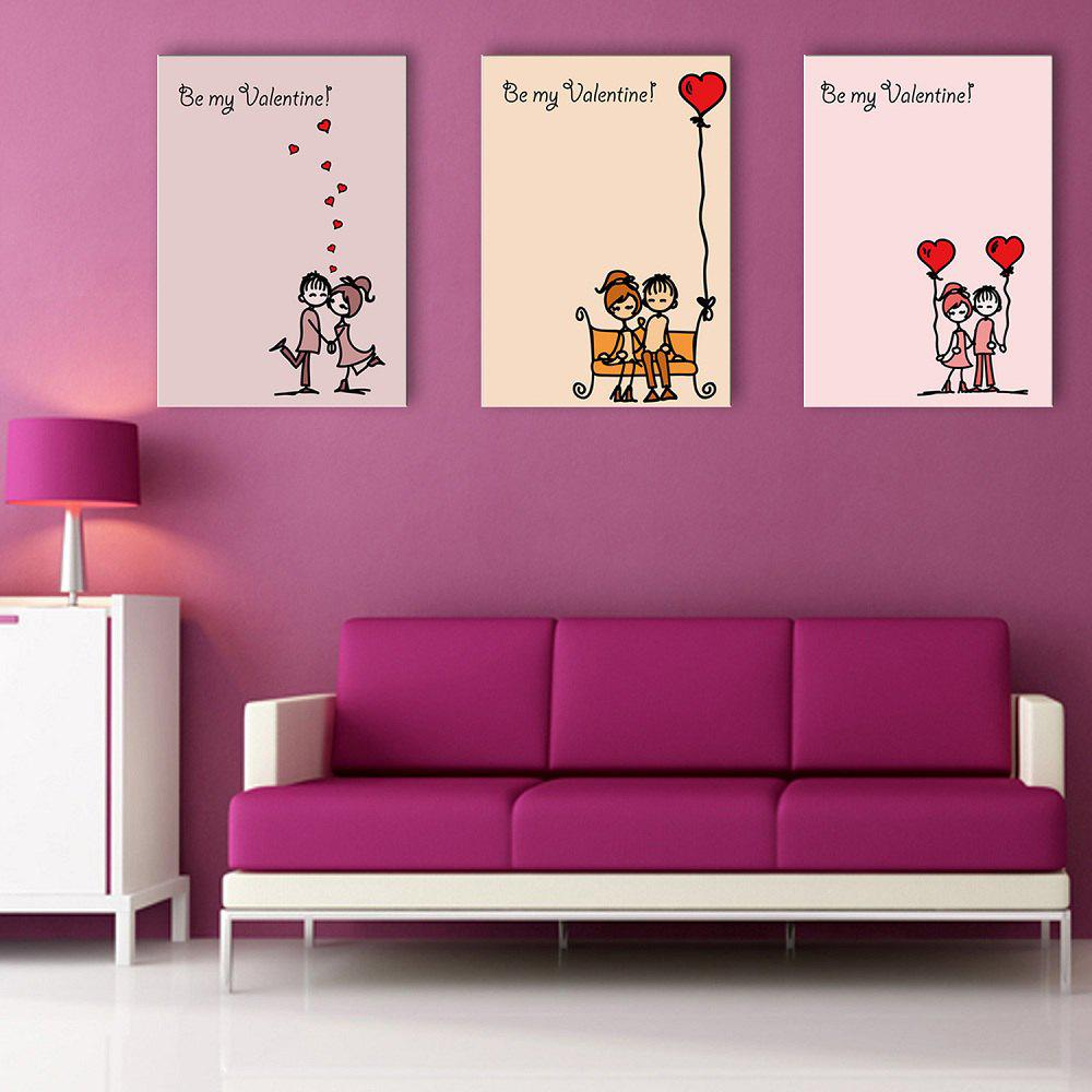 Yc Special Design Frameless Paintings Chinese Love Song of 3 - LIMEADE 20 X 28 INCH (50CM X 70CM)