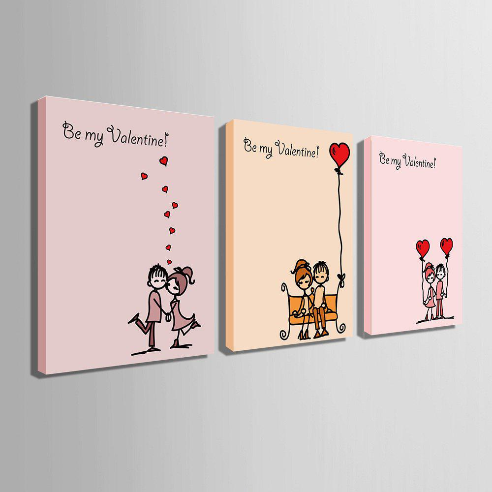 Yc Special Design Frameless Paintings Chinese Love Song of 3 - LIMEADE 24 X 16 INCH (60CM X 40CM)