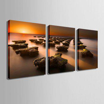 Yc Special Design Frameless Paintings Stone Road of 3 - LIMEADE 20 X 14 INCH (50CM X 35CM)