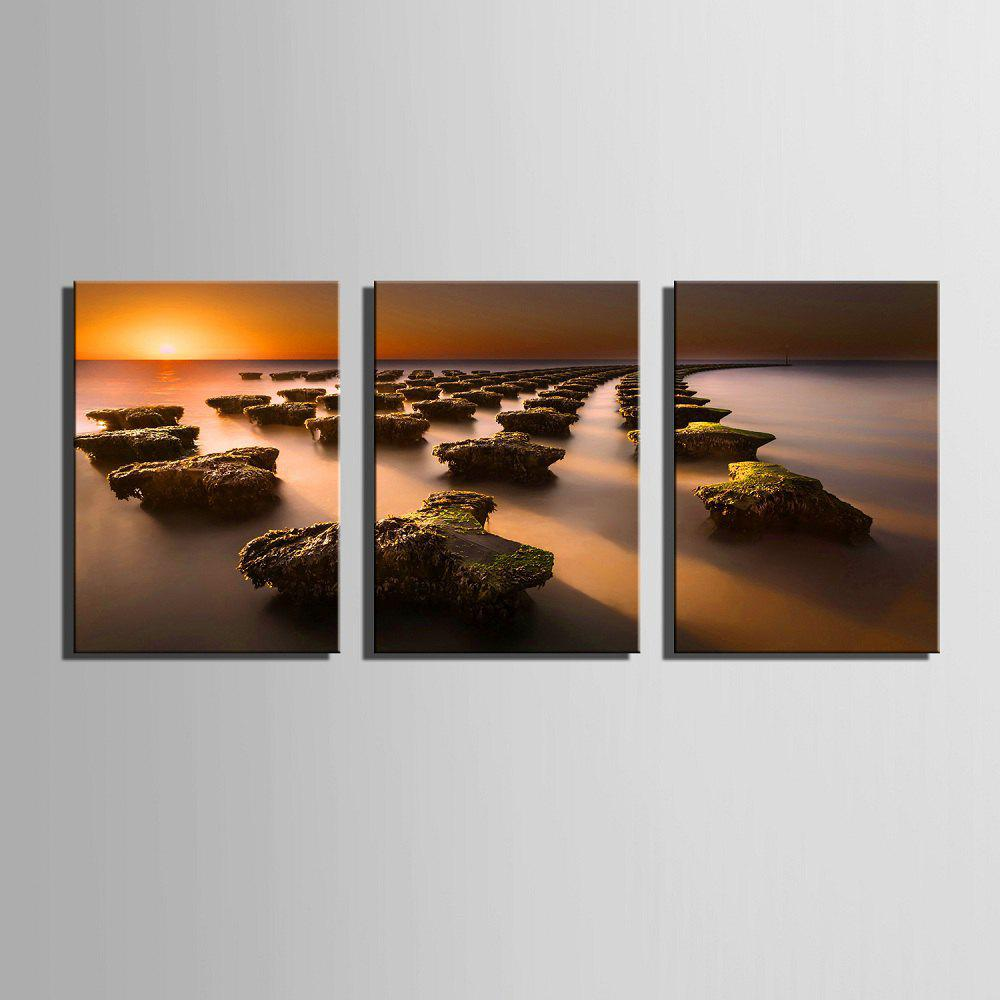 Yc Special Design Frameless Paintings Stone Road of 3 - LIMEADE 16 X 11 INCH (40CM X 28CM)