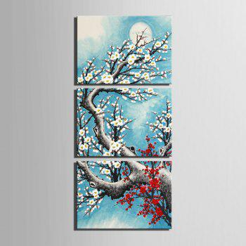 Yc Special Design Frameless Paintings Plum In Cold of 3 - 24 X 16 INCH (60CM X 40CM) 24 X 16 INCH (60CM X 40CM)