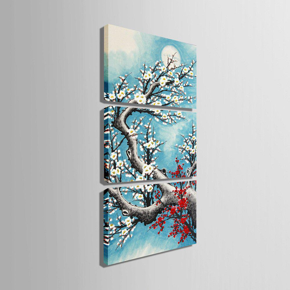 Yc Special Design Frameless Paintings Plum In Cold of 3 - LIGHT BLUE 9 X 13 INCH (24CM X 34CM)