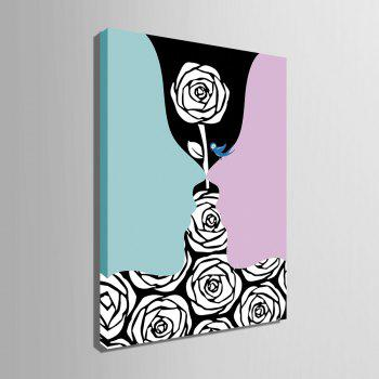 Yc Special Design Frameless Paintings Creative Roses of 1 - LIGHT BLUE 9 X 13 INCH (24CM X 34CM)