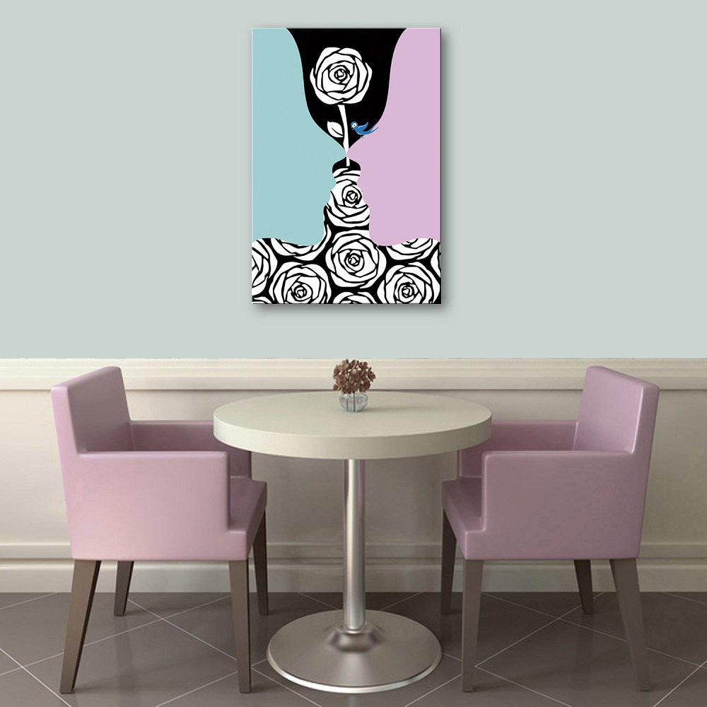 Yc Special Design Frameless Paintings Creative Roses of 1 - LIGHT BLUE 16 X 11 INCH (40CM X 28CM)