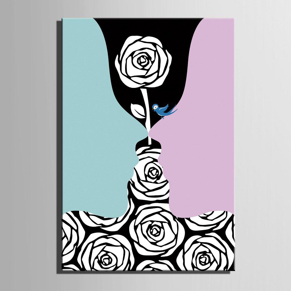 Yc Special Design Frameless Paintings Creative Roses of 1 - LIGHT BLUE 20 X 28 INCH (50CM X 70CM)