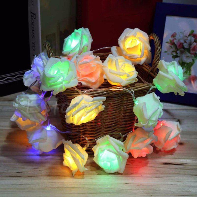 JIAWEN Fairy Christmas Garland Rose-shape Flower String Light Wedding Party Decoration 30m 300 led 110v ball string christmas lights new year holiday party wedding luminaria decoration garland lamps indoor lighting