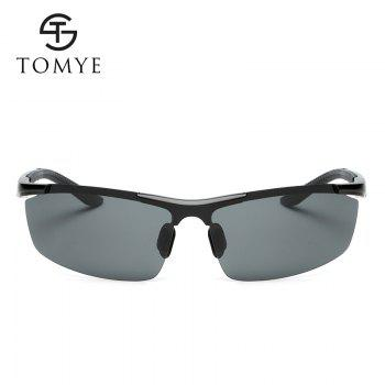 TOMYE 8530 Sports Polarized Lens  for Men and Women High-Definition Outdoor Cycling Sunglasses - BLACK/GREY