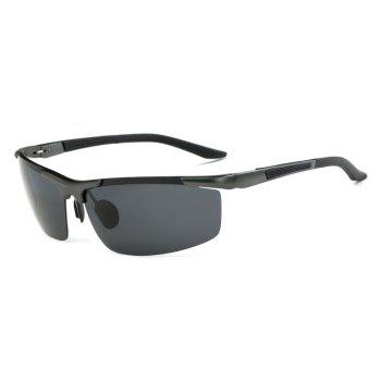TOMYE 8530 Sports Polarized Lens  for Men and Women High-Definition Outdoor Cycling Sunglasses - GUN METAL FRAME + GREY LENS GUN METAL FRAME / GREY LENS