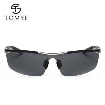 TOMYE 8530 Sports Polarized Lens  for Men and Women High-Definition Outdoor Cycling Sunglasses - GUN METAL FRAME / GREY LENS
