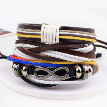 3 Pcs Eight Shape DIY Woven Bracelets - multicolorCOLOR
