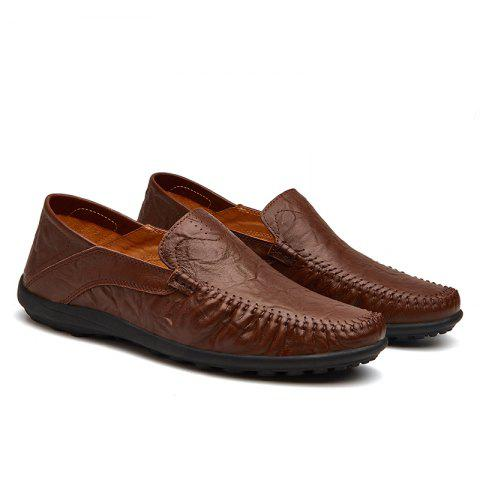 Leather Casual Leather Shoes, Men'S Soft Bottom Leisure Shoes - BROWN C STYLE 43