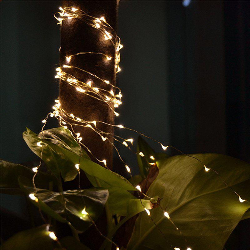 2M 20-LED Lights Battery Powered Copper Wire String Lights for Christmas Festival Wedding Party Home Decoration 10m 33ft 100 led 5v usb outdoor warm white rgb led copper wire string fairy lights christmas festival wedding party decoration