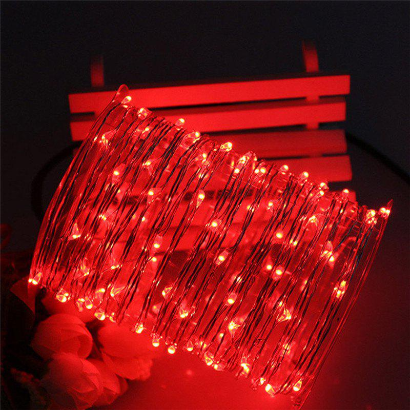 2017 AY - hq218 5M 50 LED Copper String Lights with USB Cable for Party RED In Festive & Party ...