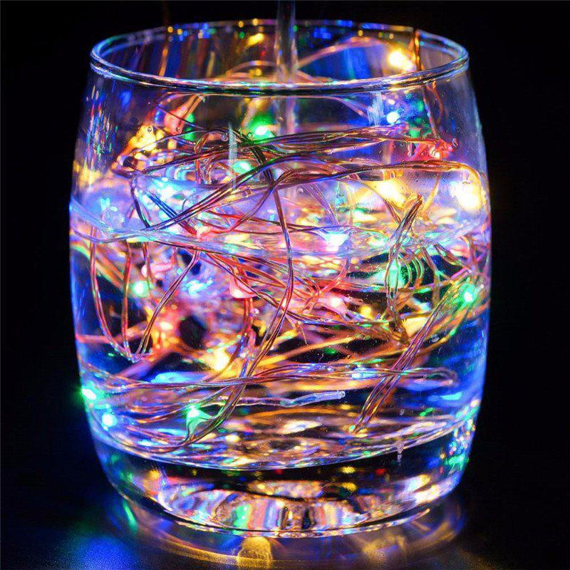 AY - hq218 5M 50 LED Copper String Lights with USB Cable for Party - COLORFUL