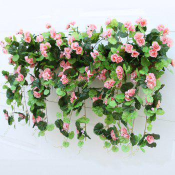 1 Bouquet Begonia Wall Mounted Artificial Flower Home Decoration -  PINK