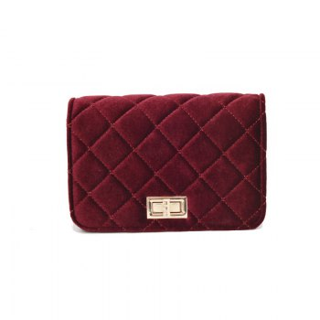 Fashion Casual Signature Pure plaid Shoulder Handbag Crossbodybagfor Women - RED RED