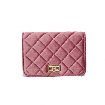 Fashion Casual Signature Pure plaid Shoulder Handbag Crossbodybagfor Women - PINK PINK