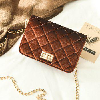 Fashion Casual Signature Pure plaid Shoulder Handbag Crossbodybagfor Women -  COFFEE