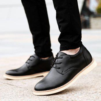 Shoes for Men Business Leather Shoes Men'S Office Shoes Casual Leather Shoes - BLACK BLACK
