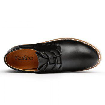 Shoes for Men Business Leather Shoes Men'S Office Shoes Casual Leather Shoes - BLACK 42