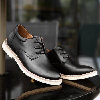 Shoes for Men Business Leather Shoes Men'S Office Shoes Casual Leather Shoes - BLACK 39