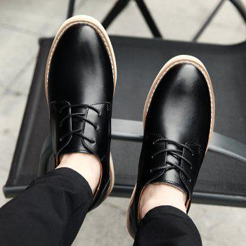 Shoes for Men Business Leather Shoes Men'S Office Shoes Casual Leather Shoes - BLACK 40