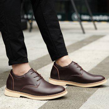 Shoes for Men Business Leather Shoes Men'S Office Shoes Casual Leather Shoes - BROWN 43