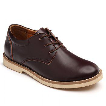 Shoes for Men Business Leather Shoes Men'S Office Shoes Casual Leather Shoes - BROWN 44