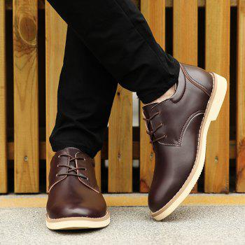 Shoes for Men Business Leather Shoes Men'S Office Shoes Casual Leather Shoes - BROWN 42