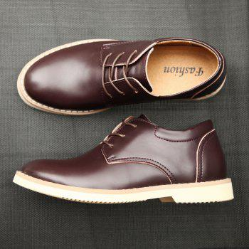 Shoes for Men Business Leather Shoes Men'S Office Shoes Casual Leather Shoes - BROWN 39