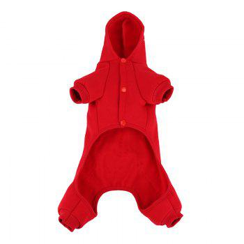 Lovoyager LVC1703 Dog Costumes d'Halloween Manteau - Rouge S