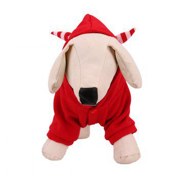 Lovoyager LVC1703 Dog Costumes d'Halloween Manteau - Rouge M