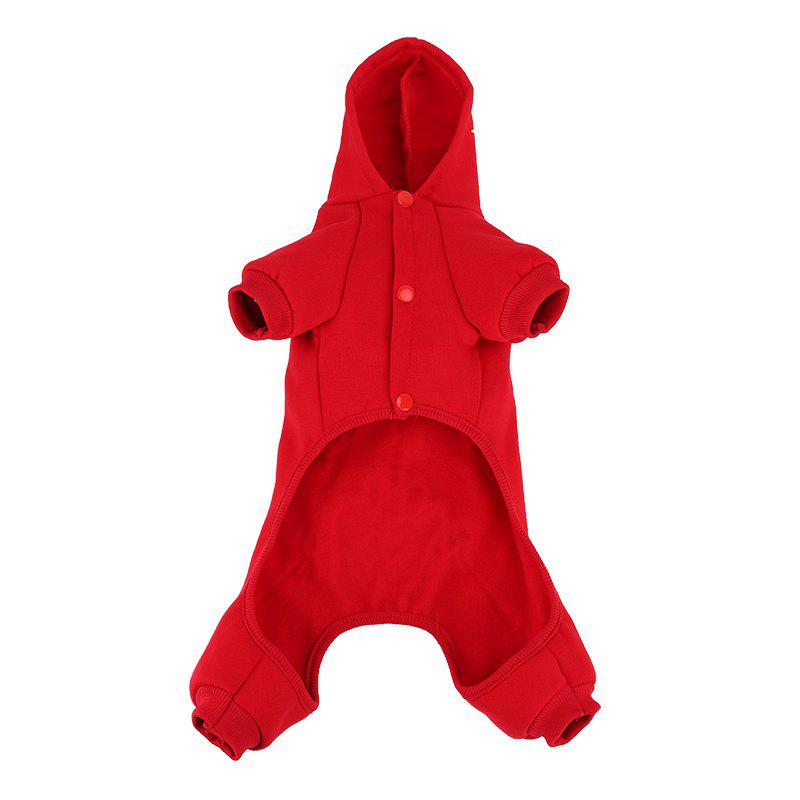 Lovoyager LVC1703 Dog Costumes d'Halloween Manteau - Rouge L