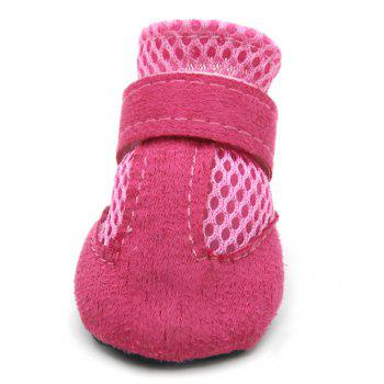 Lovoyager VSS17001 4PCS/SET Non-Slip Pet Teddy Puppy Dog Cats Casual Walking Shoes - PINK S