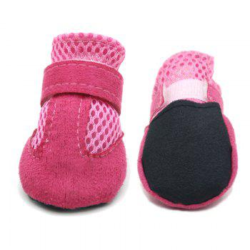 Lovoyager VSS17001 4PCS/SET Non-Slip Pet Teddy Puppy Dog Cats Casual Walking Shoes - PINK M
