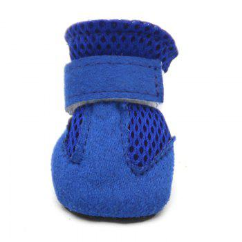 Lovoyager VSS17001 4PCS/SET Non-Slip Pet Teddy Puppy Dog Cats Casual Walking Shoes - BLUE BLUE