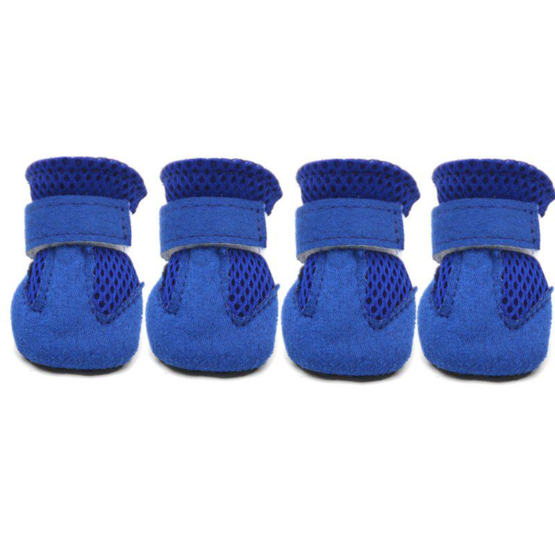 Lovoyager VSS17001 4PCS/SET Non-Slip Pet Teddy Puppy Dog Cats Casual Walking Shoes - BLUE L