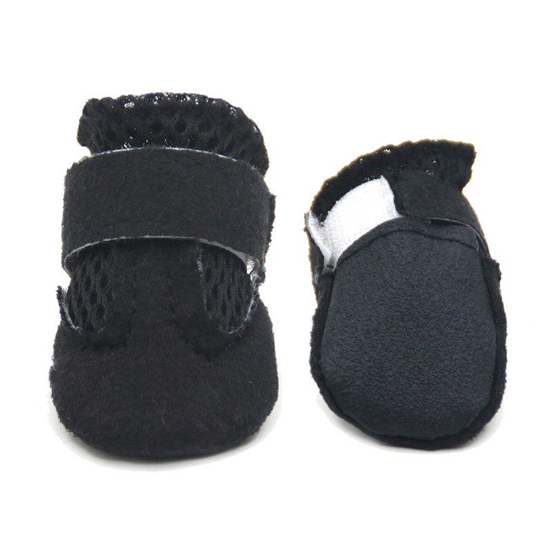 Lovoyager VSS17001 4PCS/SET Non-Slip Pet Teddy Puppy Dog Cats Casual Walking Shoes - BLACK L