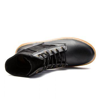 High Help Leisure Personality Pu Board Shoes - BLACK BLACK