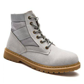 High Help Leisure Personality Pu Board Shoes - GRAY 42