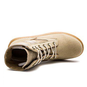 High Help Leisure Personality Pu Board Shoes - BROWN BROWN