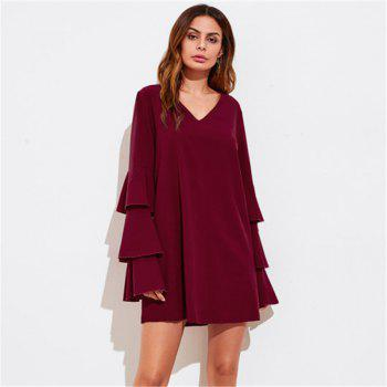 Women's Clothing Three layers of sleeve Patchwork Dress - M M