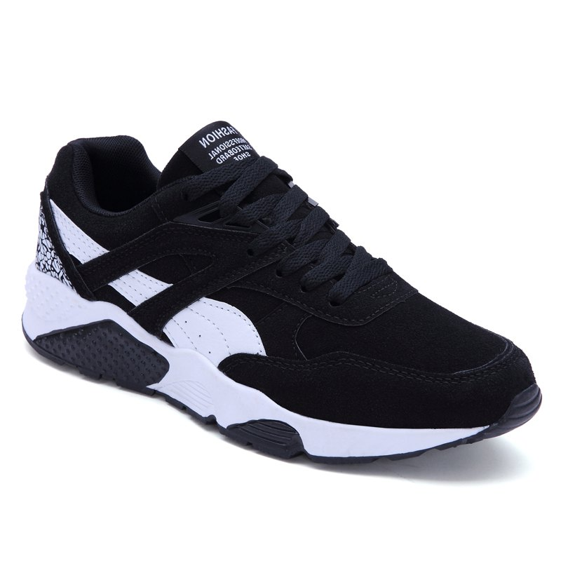Men Casual Shoes  leisure Sports Shoes Fashion Sneakers - BLACK 44