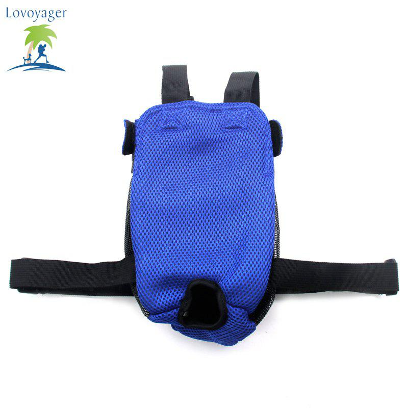 Lovoyager Vb14004 Fashionable Pet Front Chest Dog Travel Carrier Bag - BLUE L