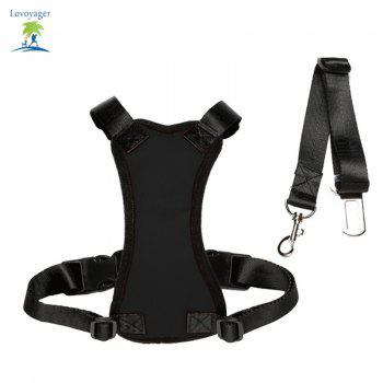 Lovoyager Lvhb15007 Safety Dog Harness for Dog - BLACK BLACK