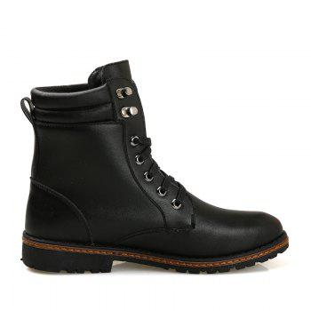 Men 'S Shoes Fashion Martin Boots High Boots - BLACK 43