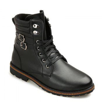 Men 'S Shoes Fashion Martin Boots High Boots - BLACK 39